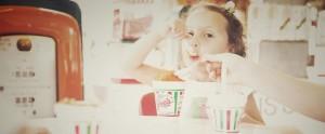 little girl enjoying Joe's Italian Ice
