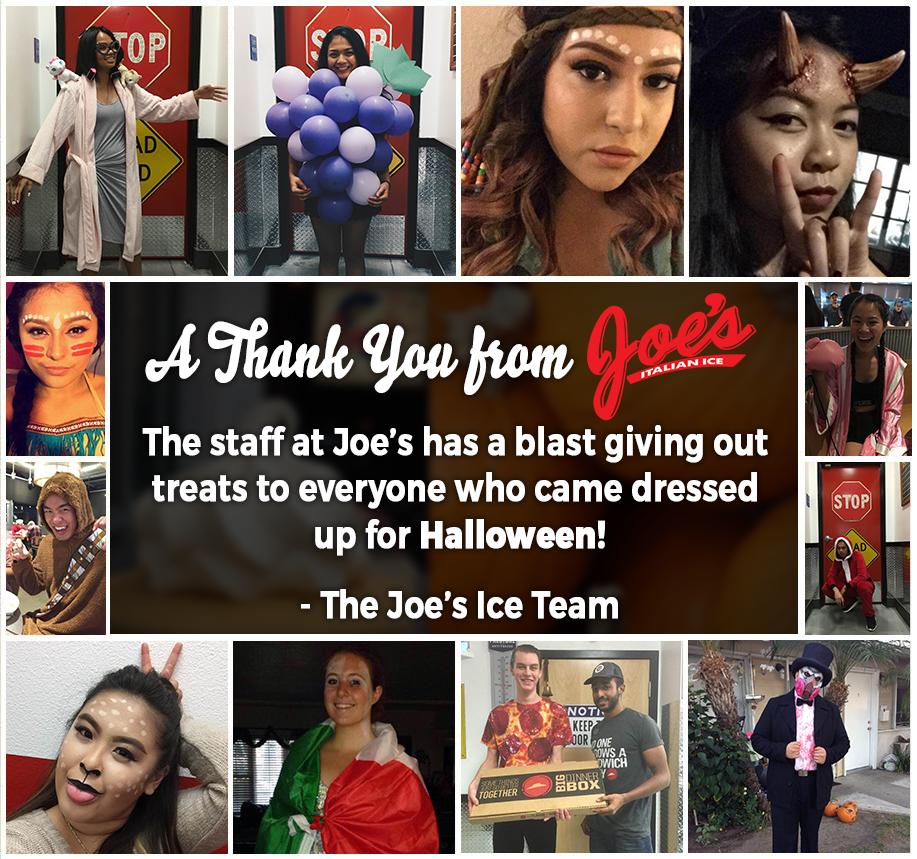Thank you for visiting Joe's Ice in your costumes!